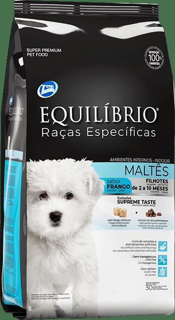 EQUILIBRIO FILHOTE RAÇAS ESPECÍFICAS MALTÊS CÃES (TOTAL ALIMENTOS)