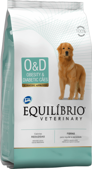 EQUILIBRIO VETERINARY O&D OBESITY & DIABETIC CÃES (TOTAL ALIMENTOS)