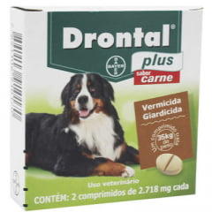 ANTI PARASITÁRIO (VERMÍFUGO) E GIARDICIDA DRONTAL PLUS CACHORROS 35 KG (BAYER)